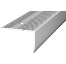 Nez de marche aluminium argenté perforé 40 x 25 x 2500 mm-thumb-0