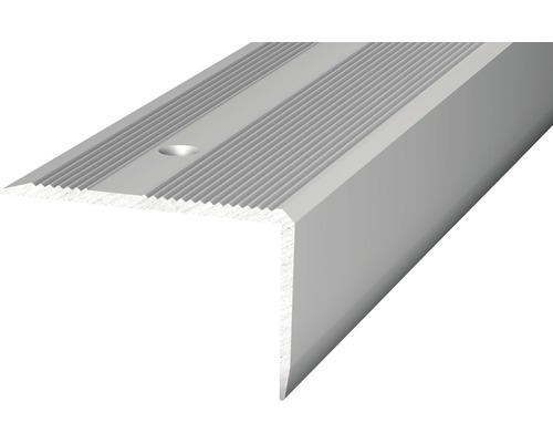 Nez de marche aluminium argenté perforé 40 x 25 x 2500 mm-0