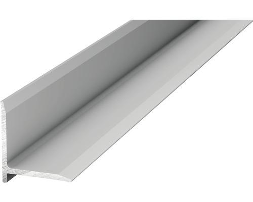 Profilé de raccordement mural aluminium argenté autocollant 13,1 x 13,1 x 2500 mm-0