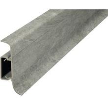 Plinthe de serrage avec guidage de câble gris pierre 50 mm x 250 cm-thumb-0