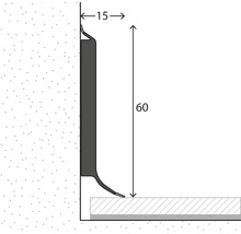 Plinthe âme chêne gris 60 mm x 250 cm-thumb-1