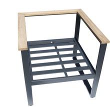 Gartenmöbel-Set Alu-Holz 6-Sitzer 4-teilig anthrazit inkl. Sitzkissen-thumb-16