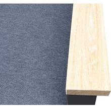 Gartenmöbel-Set Alu-Holz 6-Sitzer 4-teilig anthrazit inkl. Sitzkissen-thumb-18