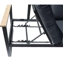 Gartenmöbel-Set Alu-Holz 6-Sitzer 4-teilig anthrazit inkl. Sitzkissen-thumb-20