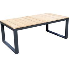 Gartenmöbel-Set Alu-Holz 6-Sitzer 4-teilig anthrazit inkl. Sitzkissen-thumb-8