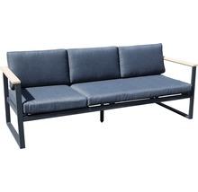 Gartenmöbel-Set Alu-Holz 6-Sitzer 4-teilig anthrazit inkl. Sitzkissen-thumb-10