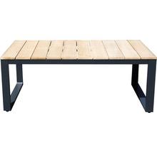 Gartenmöbel-Set Alu-Holz 6-Sitzer 4-teilig anthrazit inkl. Sitzkissen-thumb-11