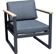 Gartenmöbel-Set Alu-Holz 6-Sitzer 4-teilig anthrazit inkl. Sitzkissen-thumb-15