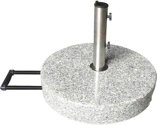 Pied de parasol Granit 40 kg granite convient aux parasols ayant un diamètre de pied de 38 mm/48 mm avec 2x adaptateurs