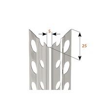 Profilé d''angle à crépir en acier inoxydable 5mm, longueur: 2,50m, lot de 25pièces-thumb-1