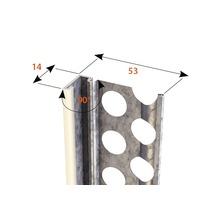 Profilé de finition à crépir en acier 14mm avec bec en PVC, longueur: 2,50m, zingué, lot de 25pièces-thumb-1