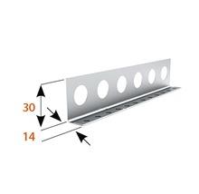 Profilé de finition à crépir en acier 14mm, longueur: 2,50m, zingué, lot de 25pièces-thumb-1