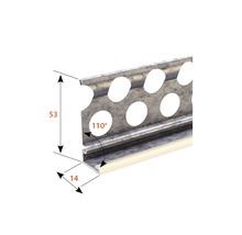 Profilé de socle à crépir en acier 14mm avec bec en PVC, longueur: 2,50m, zingué, lot de 25pièces-thumb-1