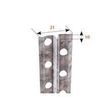 Profilé pour enduit à prise rapide, acier, 10mm longueur: 2,50m zingué lot de 50pièces-thumb-1