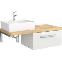 Set de meubles de salle de bains Ibiza 46x100cm blanc haute brillance avec 1 tiroir sans vasque-thumb-0
