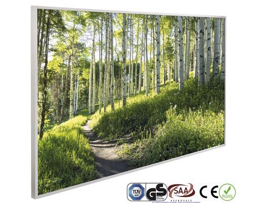 Chauffage infrarouge à motif papermoon Forêt de bouleaux 62 x 102 cm 600W