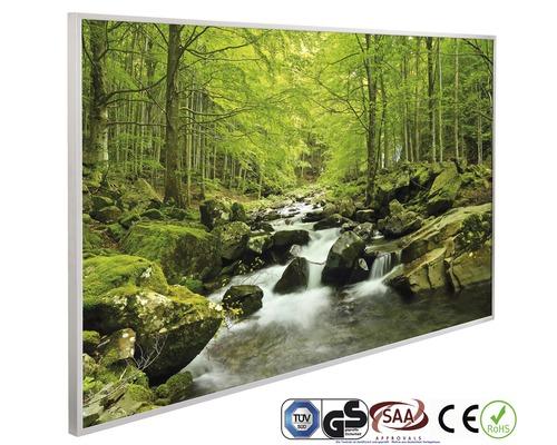 Chauffage infrarouge à motif papermoon Cascade en forêt 62 x 102 cm 600W