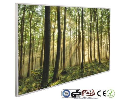 Chauffage infrarouge à motif papermoon Forêt Lever du soleil 62 x 102 cm 600W