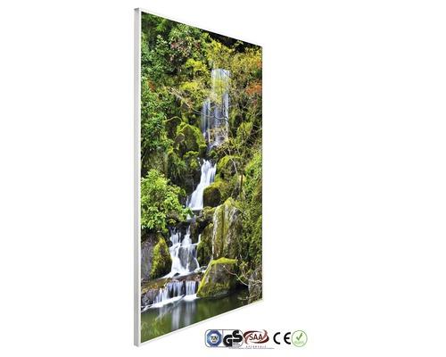 Chauffage infrarouge à motif papermoon Fond d''eau en jardin 62 x 102 cm 600W
