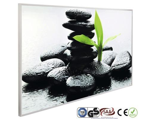 Chauffage infrarouge à motif papermoon Zen Pierres basalte 62 x 102 cm 600W