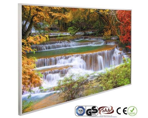 Chauffage infrarouge à motif papermoon Cascade Forêt 62 x 102 cm 600W
