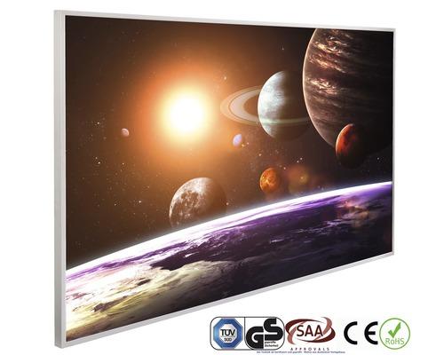Chauffage infrarouge à motif papermoon système solaire 62 x 102 cm 600W
