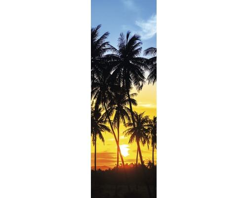 Chauffage infrarouge à motif papermoon verre Palmiers Soleil 40 x 120 cm 500W