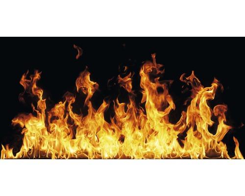 Chauffage infrarouge à motif papermoon verre feu ouvert 60 x 120 cm 750W