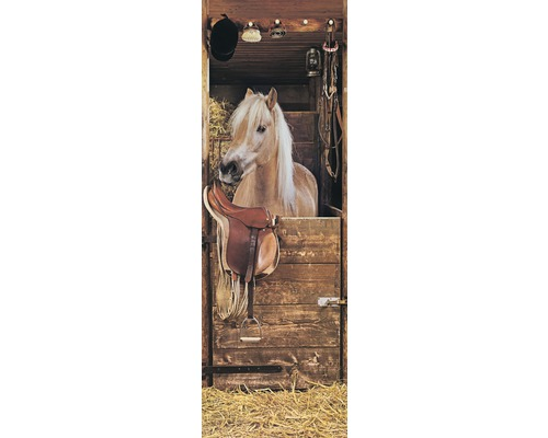 Chauffage infrarouge à motif papermoon verre chevaux à l''étable 40 x 120 cm 500W