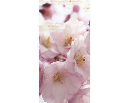 Chauffage infrarouge à motif papermoon verre fleurs de cerisier 60 x 120 cm 750W