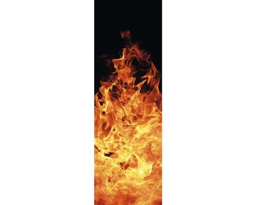 Chauffage infrarouge à motif papermoon verre Feu de cheminée 40 x 120 cm 500W