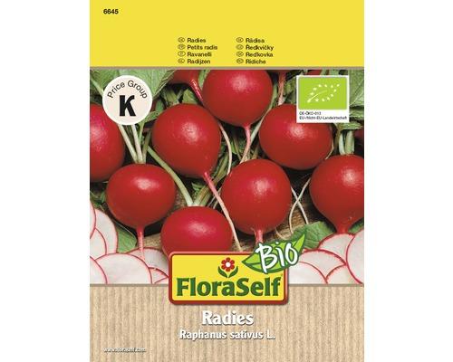 Graines de radis BIO rouges ronds FloraSelf