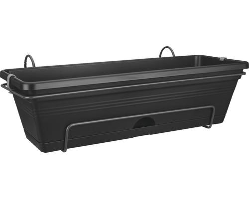 Set de jardinière elho plastique 50x18x14 cm noir