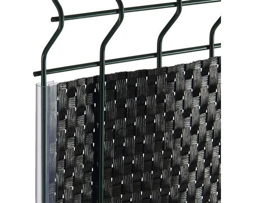 Profilé de finition pour bandes occultantes 19cm 10 pièces, transparent