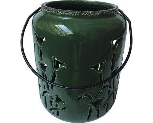 Lanterne vert foncé 18,3x18x3x24,3cm