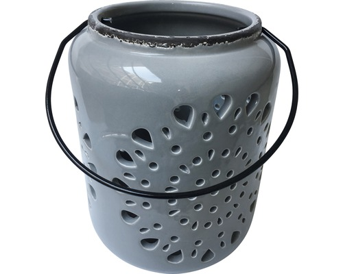 Lanterne grise 18,3x18x3x24,3cm