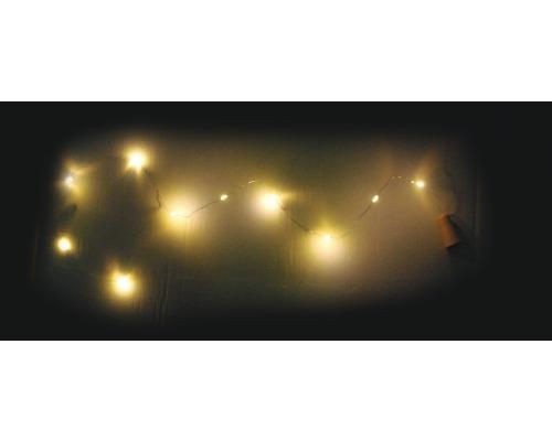 Guirlande lumineuse LED Lafiora Bouchons liège à piles lot de 6 ampoules blanc chaud 6 pièces avec pile et cellule solaire