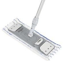 Kit de nettoyage de sol professionnel avec balai à franges, manche, seau 2x15 L, roulettes, presse, housse-serpillère Unger-thumb-2