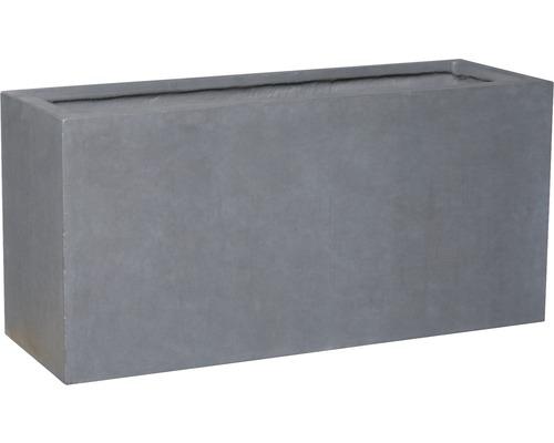Bac à plantes Lafiora Emil 2.0 pierre artificielle 74,5x25x35cm gris foncé