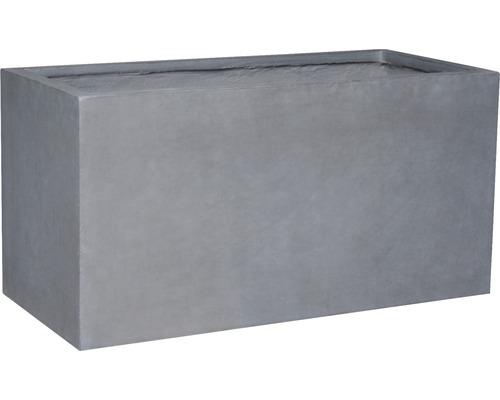Jardinière Lafiora Emil 2.0 pierre artificielle 99x46x50cm gris foncé