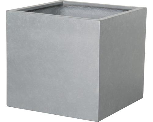 Pot de fleurs Lafiora Emil 2.0 pierre artificielle 36,5x36,5x34,5cm gris clair