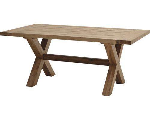 Table en bois Ploß Lincoln rectangulaire 180x100x75 cm en teck non traité