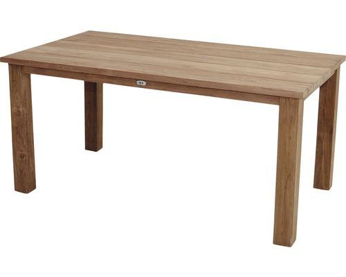 Table en bois Ploß Laredo rectangulaire 160x90x75 cm en teck non traité