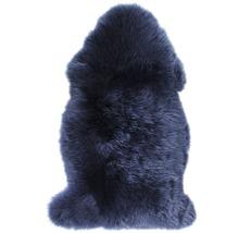 Peau de mouton bleue 90x60cm-thumb-0