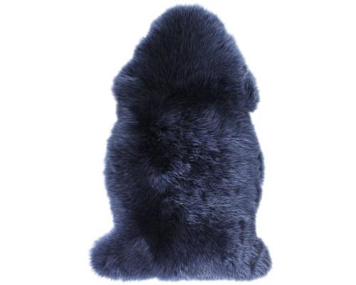 Peau de mouton bleue 90x60cm