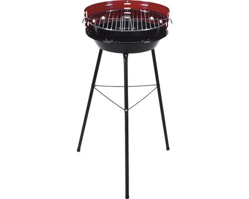 Barbecue au charbon de bois 34 cm acier noir