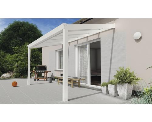 Toiture pour terrasse Expert avec verre de sécurité feuilleté 8 mm 400x250 cm blanc
