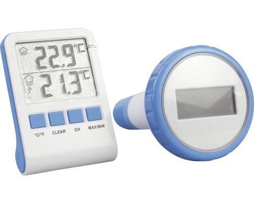 Thermomètre numérique en plastique blanc