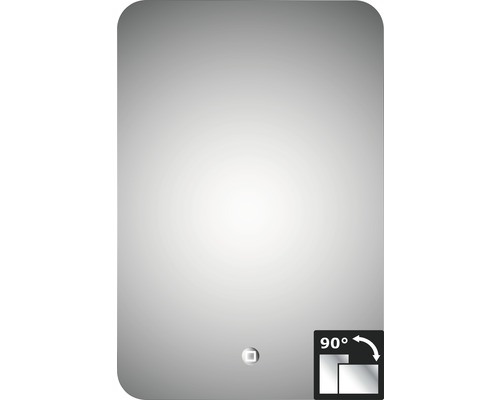 LED Badspiegel Silver Moon mit Alurahmen 40x60 cm IP 24 (spritzwassergeschützt)-0
