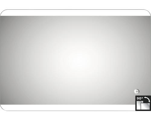 LED Badspiegel Silver Glacier 50 x 70 cm IP 24 (spritzwassergeschützt)